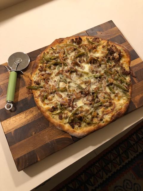 White Pizza with Sausage photo