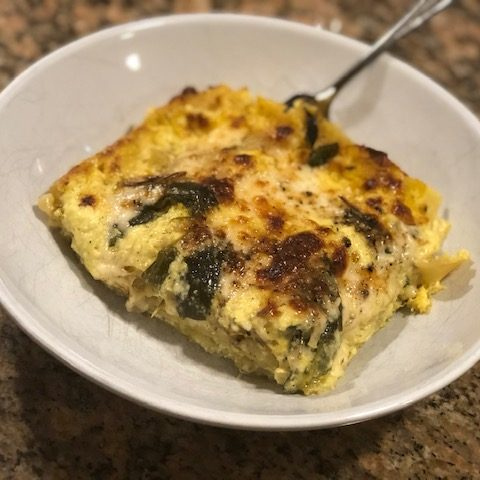 Corn and Poblano Lasagna